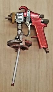 Snap On Bf590hvlp Paint Spray Gun Red And Chrome Tested Works Perfectly
