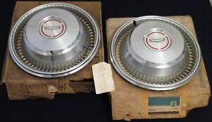 Nos 1966 Chevy Caprice 14 Wheel Trim Cover Hub Caps Pair Gm 3875033