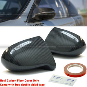 For Honda 88 91 Crx 100 Real Carbon Fiber Spoon Style Side View Mirror Cover