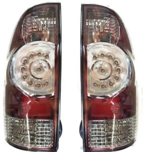 Quality Led Oe Replacement Pair Tail Light Lamps For 2005 2015 Toyota Tacoma
