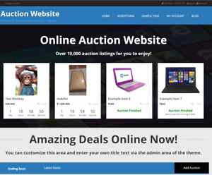 Your Own Online Auction Website Business Instantly Everything Built In