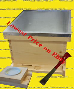 10 frame Single Deep Bee Hive un assembled W Free Feeder Hive Tool