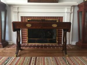 Banded Mahogany Sofa Table Baker Furniture Excellent Condition