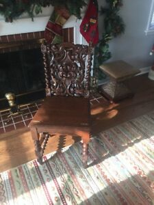 Antique Mahogany Stained Oak Metamorphic Chair Library Ladder Rare
