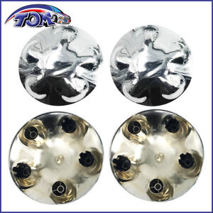 4 Pcs 97 04 Ford Expedition F150 17 Chrome Wheel Center Hub Caps Lug Nut Covers