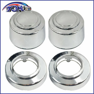 New 8lug 16 Inch Chrome Wheel Center Hub Caps Nut Covers For Ford Truck Van