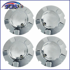 New 16 Inch Chrome Wheel Center Hub Caps For 98 03 Ford Expedition