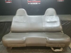 2010 Ford F450 Sd Front Bench Seat Vinyl Gray Trim Code Vs