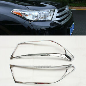 For Toyota Highlander 2011 2013 Hatchback Suv Abs Front Headlight Lamp Cover 2x