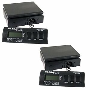 My Weigh Ultraship 35 Lb Electronic Digital Shipping Scale Adapter 2 pack