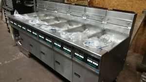Pitco Six Well Fryer With Filtration System