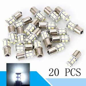 20pcs White 1156 Rv Camper Trailer 13 Smd Led 1141 1003 Interior Light Bulbs