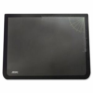 Artistic 19 X 24 Logo Pad Lift top Desk Pad Black clear