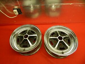 2 Used Magnum 500 Chromed Steel Wheels 14 X 6 X 4 3 4 Bolt Circle 2 Bore