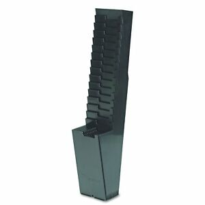 Acroprint 81 0118 000 25 pocket Expanding Time Card Rack Plastic Black