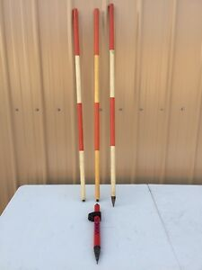 Mixed Lot Surveyor Stake Rods Survey Pole Stick Surveying Equipment