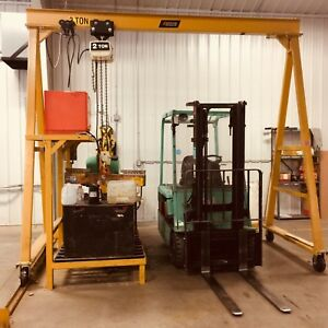 Gantry Crane With 2 Ton Coffing Electric Hoist