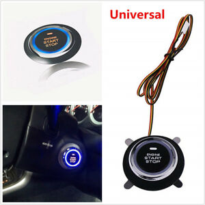 1x Universal Engine Ignition Starter Keyless Entry Push Switch Start Stop Button
