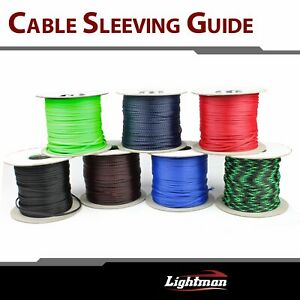 100ft Expandable Braided Sleeving Harness Cable Wire Platic Sleeves Colorful