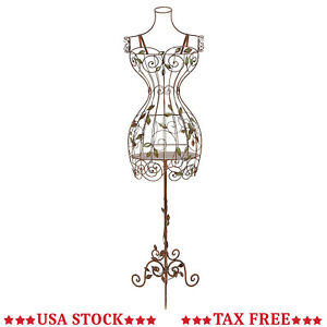 Tall Iron Dress Form Mannequin Taylors Female Stand Dummy Torso Stand Sewing New