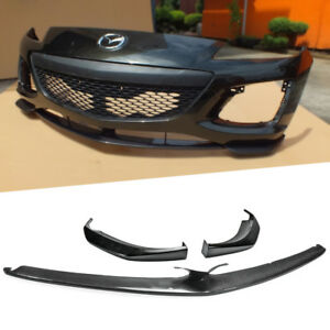 Center Carbon Side Frp Front Bumper Lip For Mazda Rx8 Late 2009 2012 R3 3pcs
