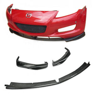 Carbon Frp Fiber Front Bumper Lip Kit For Mazda Rx8 Early 03 08 Se3p 3pcs