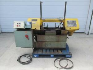 W f Wells No W 9 Twin Post Horizontal Metal Band Saw Variable Speed 9 X 18