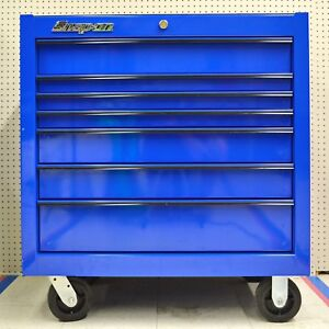 Snap On Kra2407pet 36 7 Drawer Single Bank Classic Series Roll Cab Tool Chest