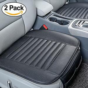 2 Car Interior Seat Cover Cushions For Auto Suppliers With Pu Leather black