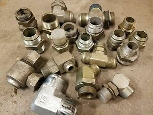 Big Lot Of Hydraulic Fitting Various Sizes Etc