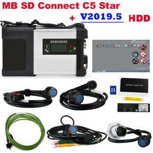 V2018 12 Hdd Mb Sd Connect Compact 5 Star Diagnostic Tool For Cars And Trucks
