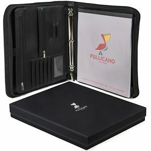 Original Pu Leather Portfolio Case W writing Pad Look Professional At Work