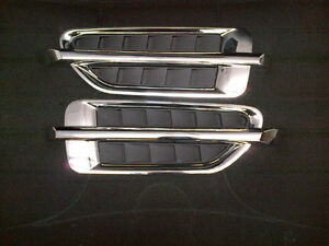 Left Right Cadillac Escalade Style Universal Chrome Front Fender Vent Moulding