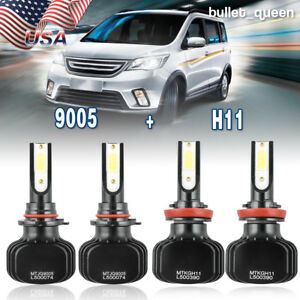 H11 9005 Led Headlight Kit For 2010 17 Mazda 3 2013 16 Mazda Cx 5 Hi low Beam