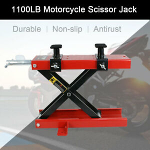 1100 Lbs Crank Scissor Jack Repair Tool Stand For Motorcycle Scooter Atv Bike