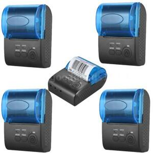 5pk 58mm Wireless Bt Usb Thermal Receipt Printer Line Mobile Pos Ios Android Lot