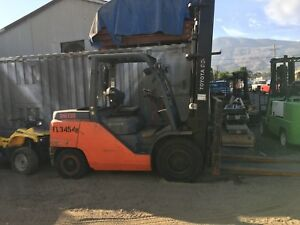 Toyota Forklift 8fd50u And Toyota 8fd35u Both Sideshift Machines 5900 For Bot