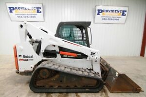 2014 Bobcat T750 Cab Skid Steer Track Loader 81hp Ac heat
