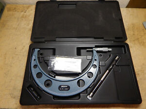 Mitutoyo 103 223 8 9 Carbide Faced Vernier Scale Micrometer With Case Standard