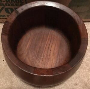Vintage Dansk Ihq Solid Staved Teak Wood Salad Serving Bowl Mid Century 8
