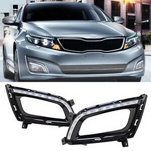 2x Led Daytime Running Light Drl Driving Fog Lamp For Kia Optima K5 2014 2015
