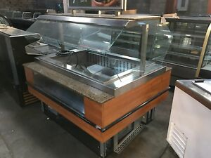 Olive Salad Bar Refrigerated Cold Buffet Table W Sneeze Guard