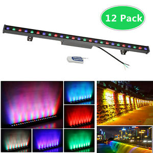 Rgb Led Wall Washer Stage Light 40 Linear Bar Outdoor Ip65 Aluminum Case 12pcs