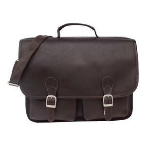 Piel Leather Unisex Executive Two Pocket Portfolio