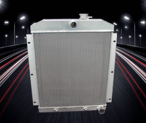 3 Row Aluminum Radiator Fit For 1947 48 49 50 51 52 53 1954 Chevy Truck