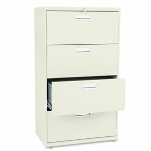 Hon 600 Series 30 Inch Four Drawer Lateral File Cabinet