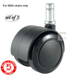 Office Desk Chair Replacement Wheels Casters With 3 8 10mm Stem Fit Ikea Chair