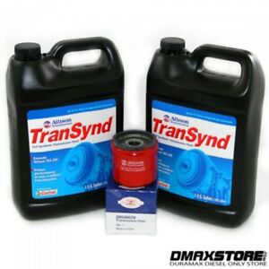 Transynd Full Synthetic Transmission Fluid Duramax Service Pkg 2 Gal Filter