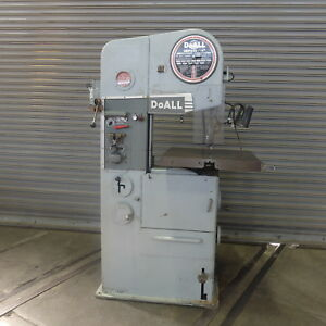 16 Doall Vertical Band Saw Model 16 2