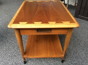 Mcm Lane Side End Table Acclaim Drawer Lamp Nightstand Eames Era Atomic 60s 70s